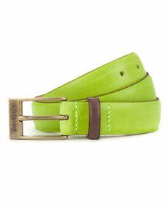 603f85a534d3ea BRIGHTR - Bright colour block belt - Lime