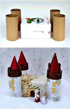 Cardboard Crafts Kids, Toilet Paper Roll Crafts, Projects For Kids, Crafts For Kids, Kids And Parenting, Paper Art, Frozen, Holiday Decor, Castle