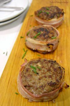 Ponto de Rebuçado Receitas: Medalhões de carne picada com bacon