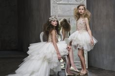 Inspired by Sleeping Beauty tales and royal princesses and queens the fantastical gowns of Mischka Aoki for spring 2016