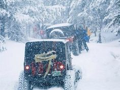 Oh the weather outside Is frightful, but having a Jeep is so delightful