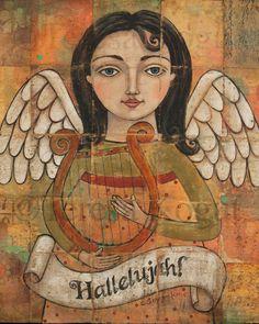 Hallelujah 8x10 print by Teresa Kogut