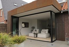 Corten Steel, House Extensions, Ramen, Bungalow, Oversized Mirror, Future, Modern, Home Decor, Trendy Tree