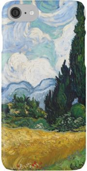 Wheat Field with Cypresses by Vincent van Gogh iPhone Case & Cover
