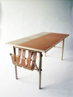 David Ericsson; Wood and Leather 'Carl Malmsten Made Me Do It' Desk, 2010.
