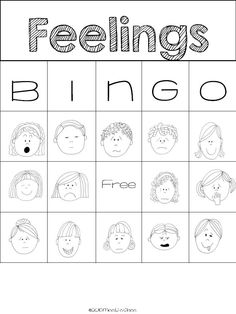 This Bingo game was created to help my students identify different feelings. The feelings covered are: embarrassed, excited, frustrated, jealous, pleased, sick, surprised, tired, worried, angry, bored, disappointed, happy, confused, proud, sad, scared and silly.   This download includes 18 feelings cards (to be used by the teacher while playing the game) and 5 bingo cards.
