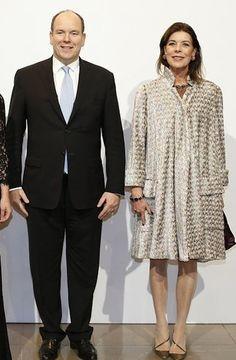 Princess Caroline of Monaco in a Chanel coat