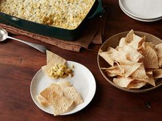 Hot Corn Dip! We mix ours up & put it in a slow cooker until bubbly. Corn chips are a MUST. Yum!