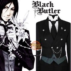Black Butler Sebastian Michaelis Cosplay Costume CS011C For Ty-we're thinking ComicCon 2015 :)