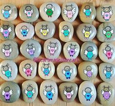 Like 133 times, 15 comments - Helena Stilling ( on I . - Like 133 times, 15 comments – Helena Stilling ( on Insta … – - Stone Crafts, Rock Crafts, Crafts To Make, Pebble Painting, Pebble Art, Stone Painting, Rock Painting Patterns, Rock Painting Designs, Posca Art