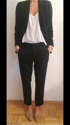 Zara Hose Chino Anzug Arbeit Jeans schwarz 36 S Blogger - kleiderkreisel.de