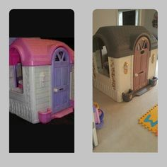 Little tykes playhouse makeover...