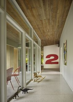 mid-century home renovation by DeForest Architects