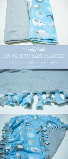 How To Make A No Sew Baby Blanket No Sew Fleece Blanket Tutorial