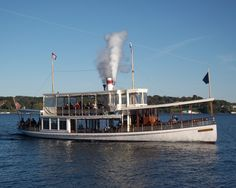 The Lake Geneva Cruise Line's Steam Yacht Louise. Lake Geneva WI.