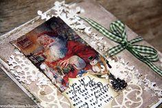 dinfantasi.no: Juleposekort med gavelomme
