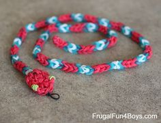 How to Make Loom Band Snakes - Frugal Fun For Boys