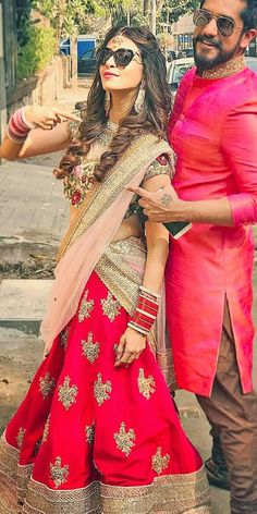 indian wedding dresses gold red- via instagram