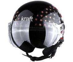 Capacete Aberto Plus Personalizado Estados Unidos Fosco Kraft