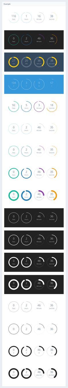 ClassyCountdown - Circular jQuery Countdown Timer Plugin #jQuery #Countdown #Timer #Circular #plugin #html5 #css3 #webdesign