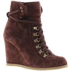 Ganni Idaho Wedge Ankle Boots ($140) ❤ liked on Polyvore