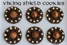 recipes for kids Catholic Cuisine: Viking Shield Cookies for the Feast of St. Magnus Catholic Cuisine: Viking Shield Cookies for the Feast of St. Dragon Birthday Parties, Dragon Party, 9th Birthday, Viking Birthday, Vikings, Viking Food, Viking Baby, Happy Feast, Medieval Party