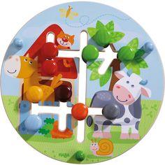 Plateau de motricité Le monde de la ferme | Jeux à enficher, Jeux d'encastrement & Jeux de classement | Jouets | HABA France