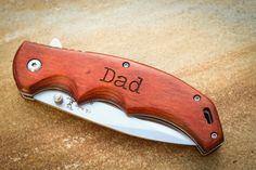 This custom engraved folding knife is the perfect gift for your bridal party, Fathers Day, stocking stuffers, anniversary, or just because its fun
