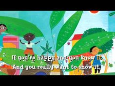 If You're Happy and You Know It! - Lots of good animated songs from Barefoot Books Kindergarten Songs, Preschool Music, Nursery Songs, Nursery Rhymes, Songs To Sing, Kids Songs, Barefoot Books, Action Songs, Music And Movement