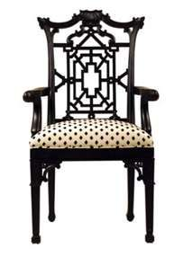 Love this Chinese/Chippendale accent chair.