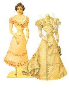 Victorian paper bride doll