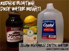 Jillian Michaels' Detox Water. I think I'll try it. I hope it's tasty *crosses fingers* :)