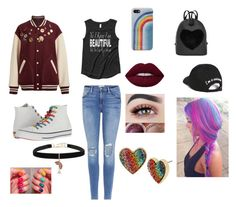 """Uni"" by jayxd ❤ liked on Polyvore featuring Frame, Marc Jacobs, Converse, Boohoo and Betsey Johnson"