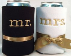Florida Gator Wedding Koozies Albert & by SewingCircleBoutique