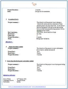 jethwear latest cv format for freshers mca personal statement httpwww - Resume Review Service