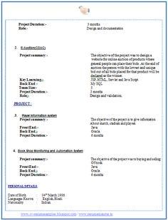 jethwear latest cv format for freshers mca personal statement httpwww resume format for mca student