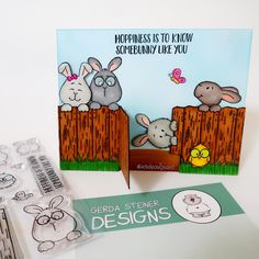 Look who's peaking! Gerda Steiner Designs Card by Jeannie with InsideoutJeans