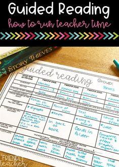 Teaching Guided Reading - The Friendly Teacher