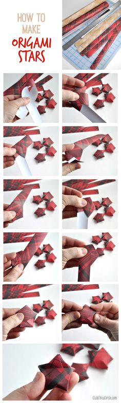 How to Fold Origami Stars with Wrapping Paper