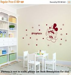 10% Discount Personalized Name Disney Mickey Mouse Wall by JRDecal