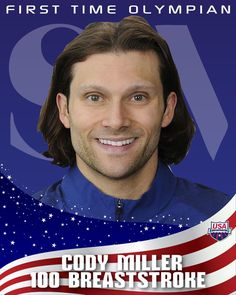 Cody Miller. Bronze.   100m Breaststroke...and doing so while having a lung disorder he was born with.  #impressive