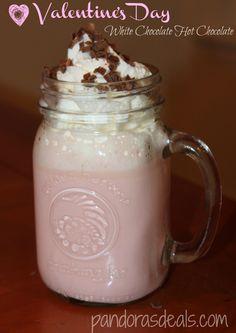 Valentine's Day White Chocolate Hot Chocolate