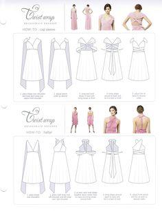 Dessy Twist Wrap Dress W/ Chiffon Overskirt: Long Bridesmaid Dress | $98.99 | Toast Bridal - Authorized Dealer