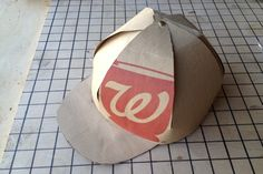 Paper Bag Cap - DIY - super idea for the youngsters!