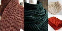 crochet ribbed scarfs