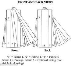 Bonnie's Pattern Shop - Folkwear Tibetan Sleeveless Panel Coat & Full-Length Vest Sewing Pattern #118