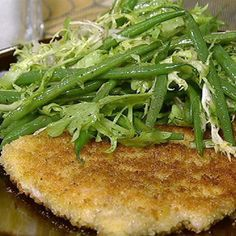 Michael Symon's Pork Schnitzel with Green Beans and Frisee