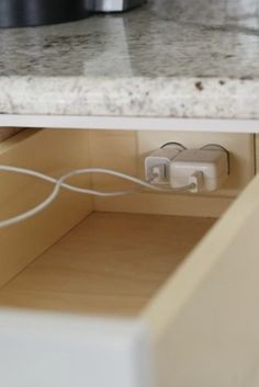 hide your charging stations in a kitchen drawer! or anywhere in the house for that matter