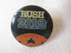 Vintage RUSH 2112 Pinback Button by VintageByThePound on Etsy