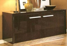 Vienna Contemporary Laquered Dark Wood Buffet (Toll Free: 1-800-656-8121)